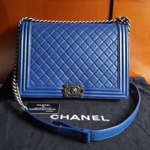 47f2c16308ff CHANEL Bags | Le Boy Large Soft Royal Blue Color | Poshmark